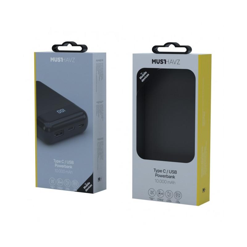 Musthavz - Batterie externe Type-C 10000mAh - noire
