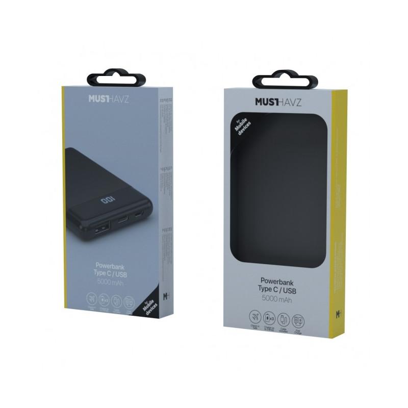 Musthavz - Batterie externe Type-C 5000mAh - noire