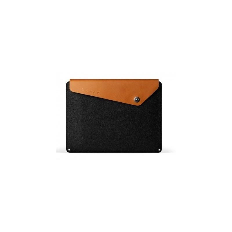 """Mujjo Pochette en cuir pour MacBook 12"""" Marron"""