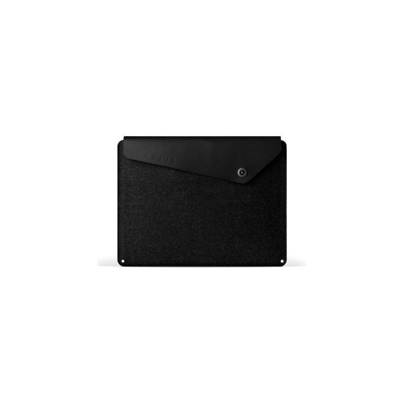 Mujjo Pochette en cuir pour MacBook Pro retina 12'' Noire