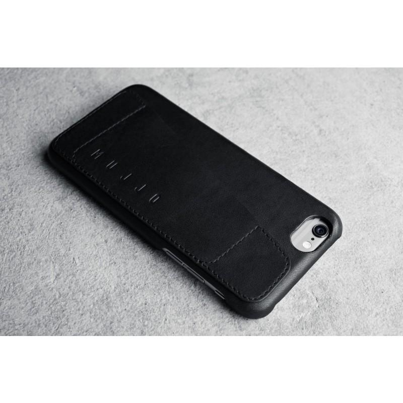 Mujjo Coque Cuir iPhone 6 (S) - Etui portefeuille - Noir