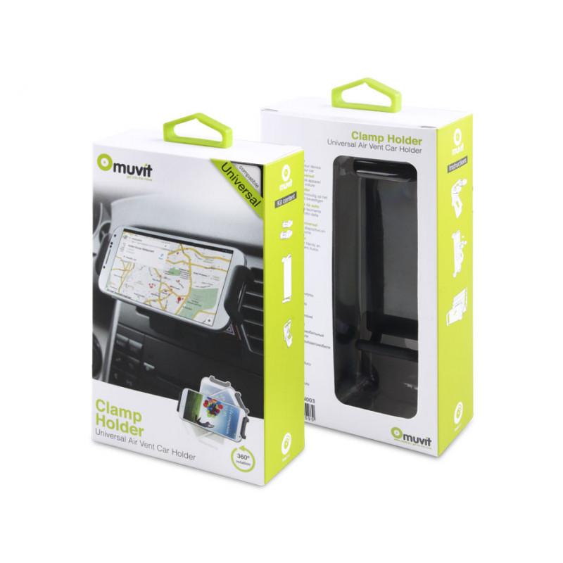 Muvit Universal - Support smartphone pour voiture - Noir