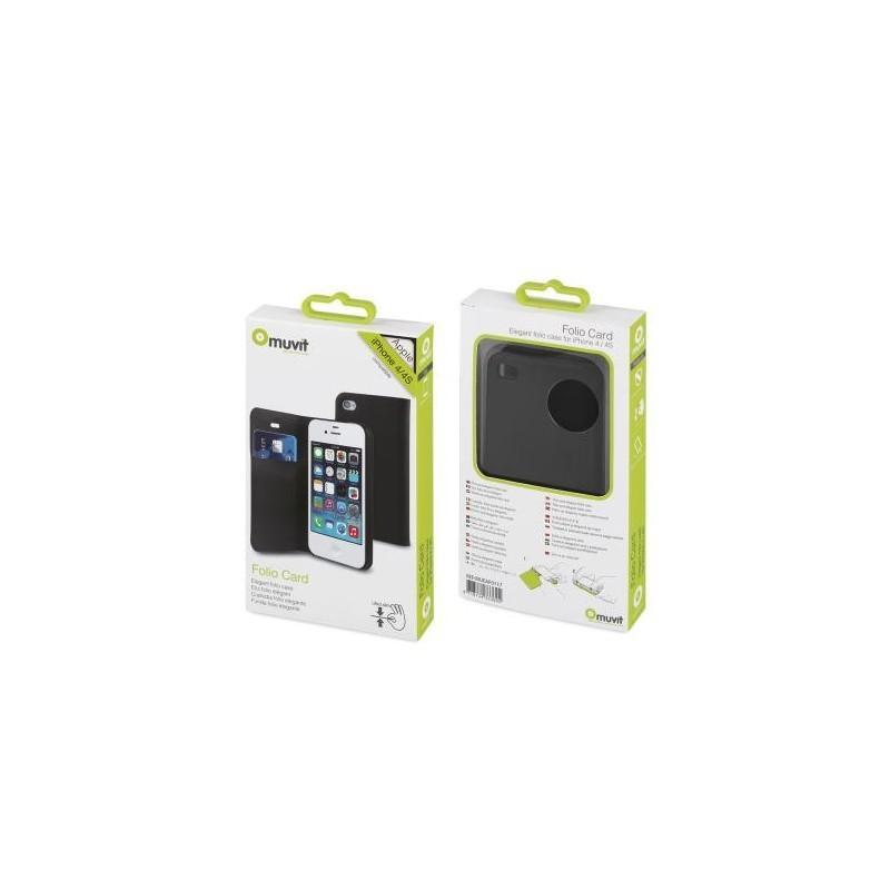 Muvit Folio étui portefeuille iPhone 4(S) noir