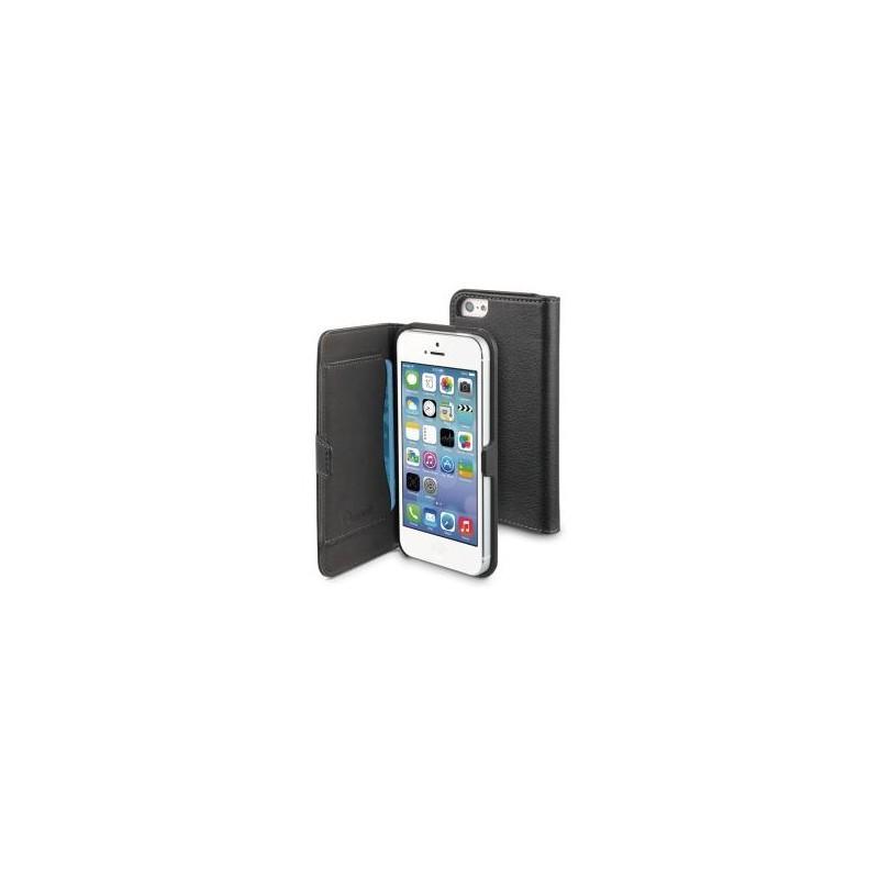 Muvit Slim Folio - Étui portefeuille iPhone 5(S) / SE - Noir