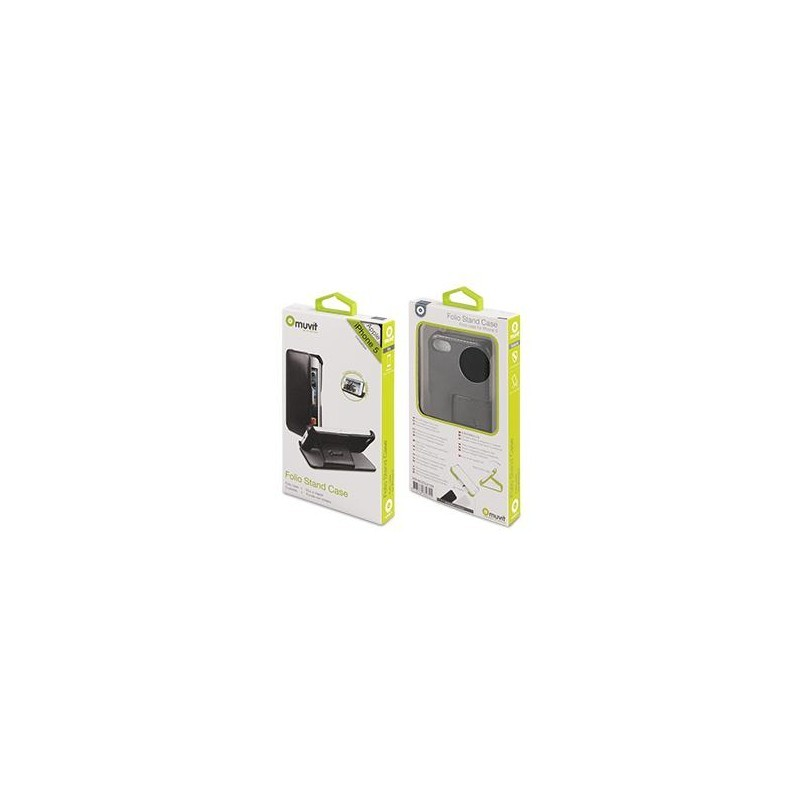 Muvit Folio Stand Étui / Support iPhone 5(S) / SE - Noir