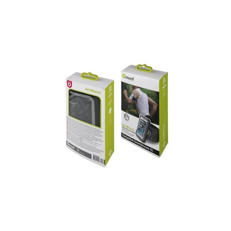 Muvit Ultra-mince Brassard de sport iPhone 5(S)/SE/5C Noir