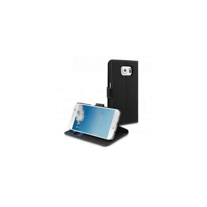 Muvit Wallet - Étui Support Samsung Galaxy S6 - Noir