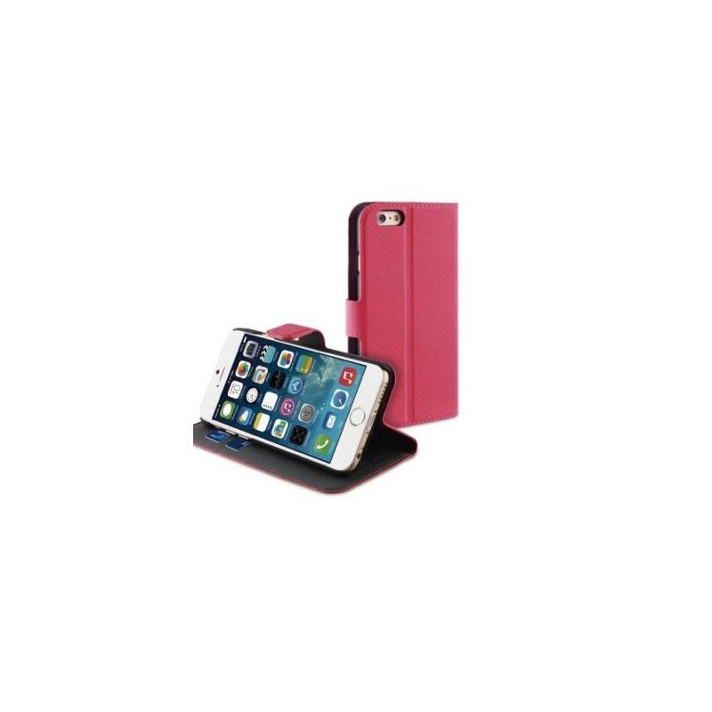Muvit Wallet - Étui portefeuille iPhone 6(S) - Rose