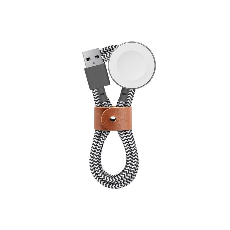Câble Native Union Kevlar Belt pour Apple Watch 1.2m zebra