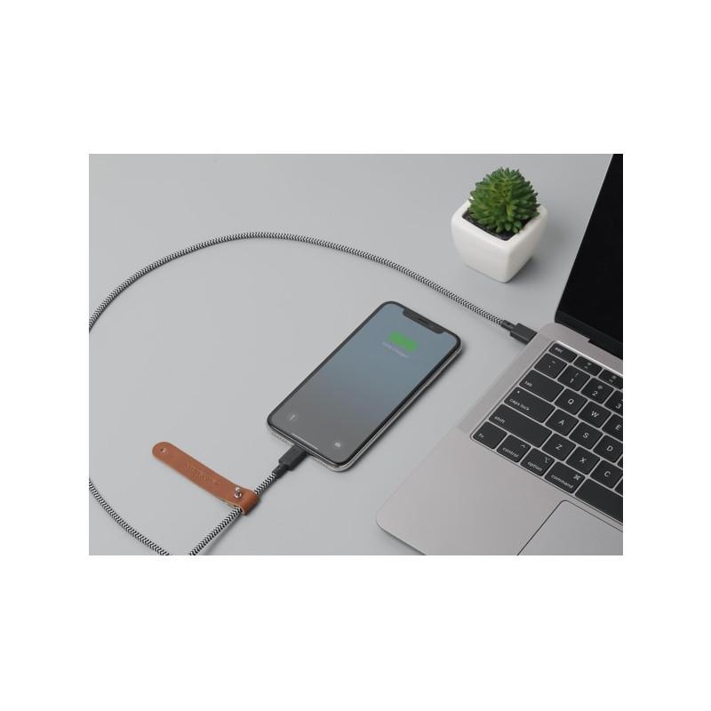 Adaptateur Native Union Kevlar Belt USB-C vers Lightning 1.2m Zébre