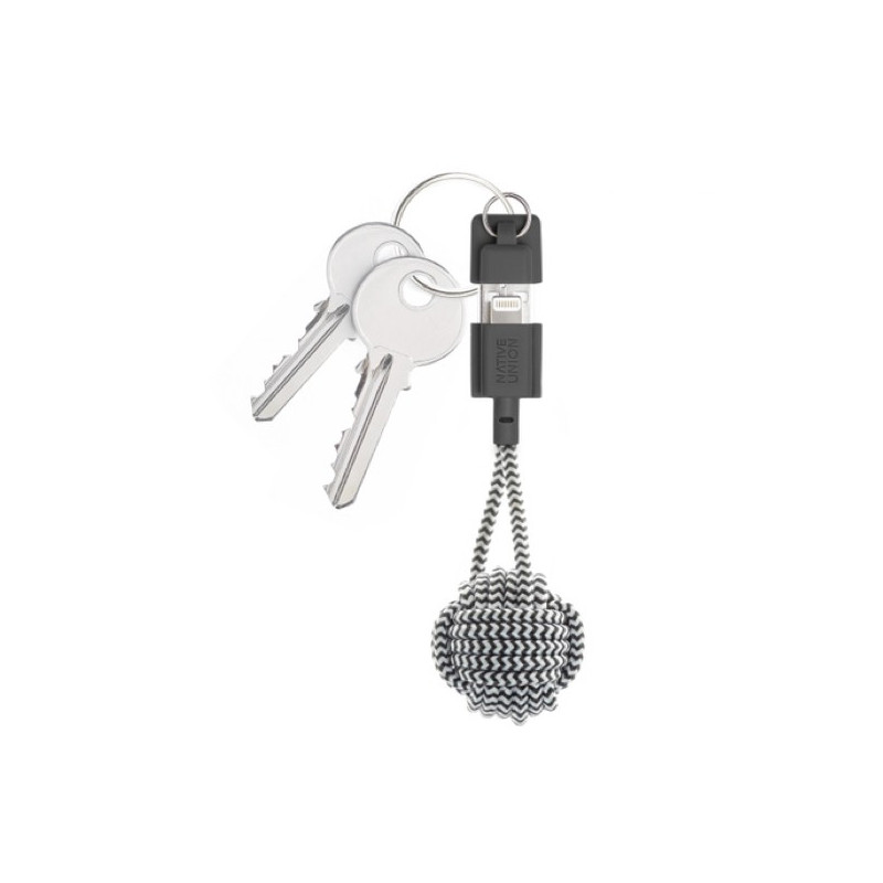 Native Union Kevlar Key Lightning - Câble de charge - Zèbre
