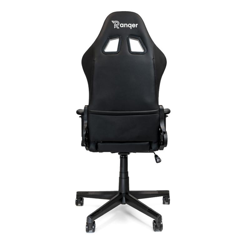 Ranqer - Halo Siège gamer LED / Chaise gaming RGB - Noir