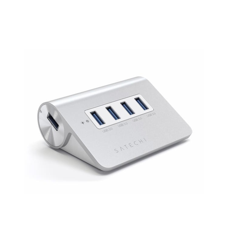 Satechi Adaptateur Hub USB 3.0 - 4 ports - Aluminium - Argent