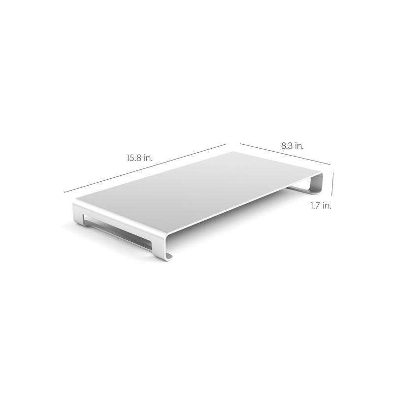 Satechi Support Ecran et Ordinateur - Aluminium - Argent