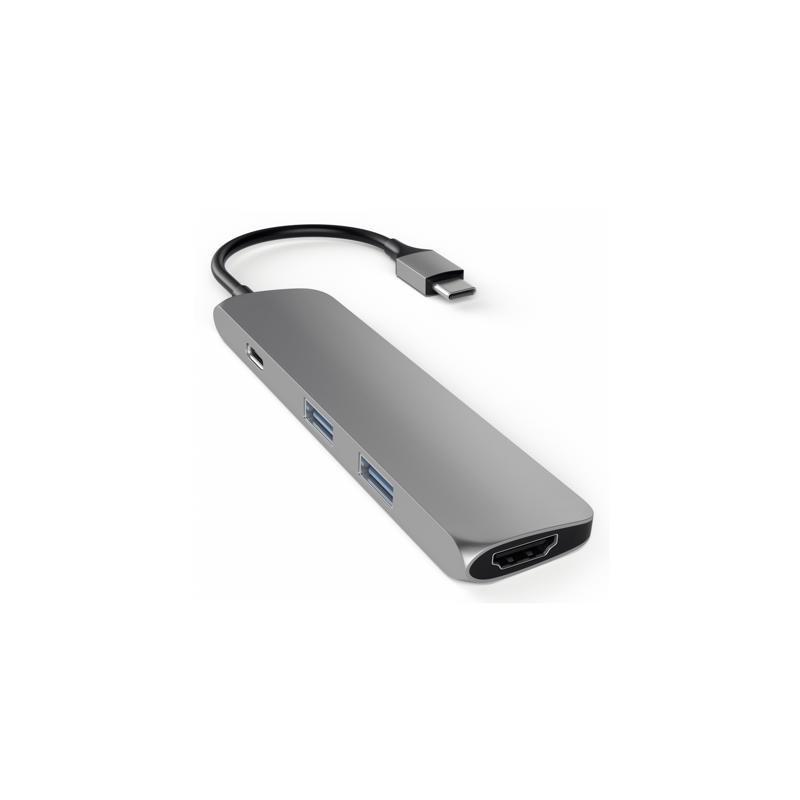 Satechi Adaptateur USB-C vers USB 3.0 Et HDMI - Gris