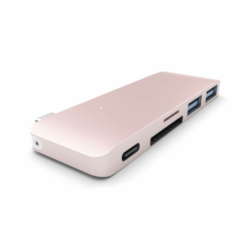 Satechi Hub USB-C vers USB 3.0 / Carte SD / USB-C - Rose