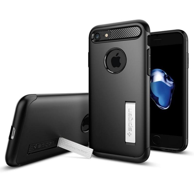Spigen Slim Armor Coque iPhone 7 / 8 / SE 2020 noir