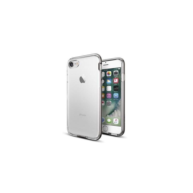 Spigen Neo Hybrid Crystal Coque iPhone 7 / 8 / SE 2020  gris métalique