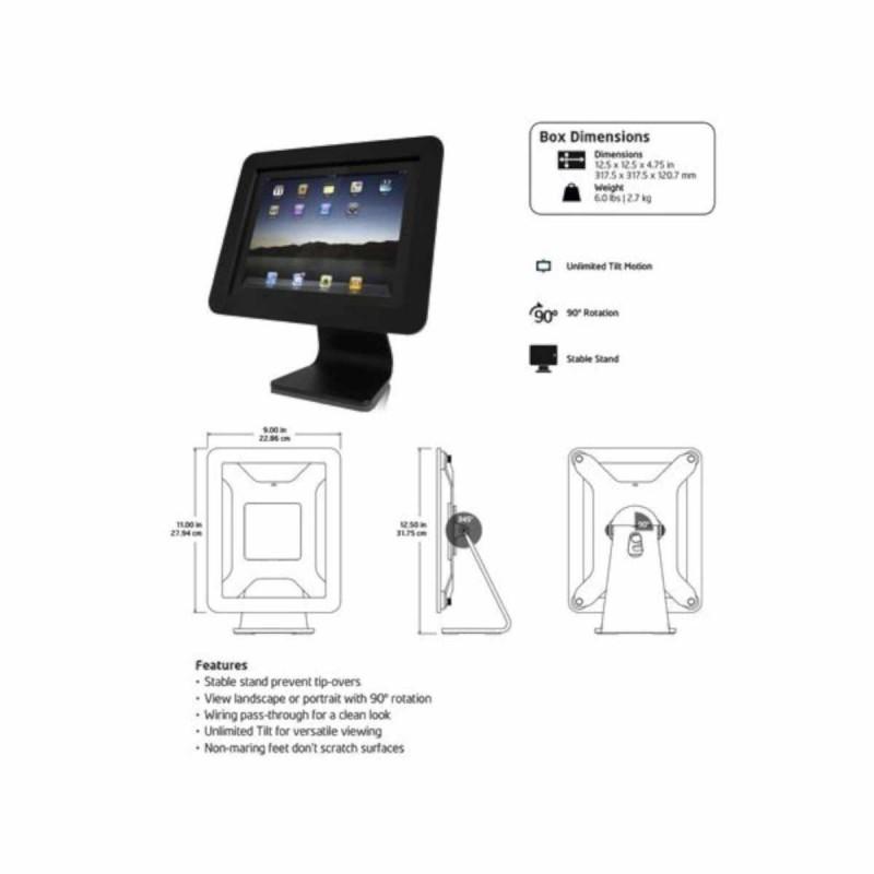 Maclocks iPad 2/3/4/Air enclosure kiosk Noir