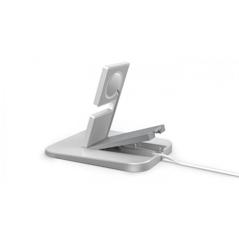 Twelve South HiRise Support Chargeur Apple Watch Argent