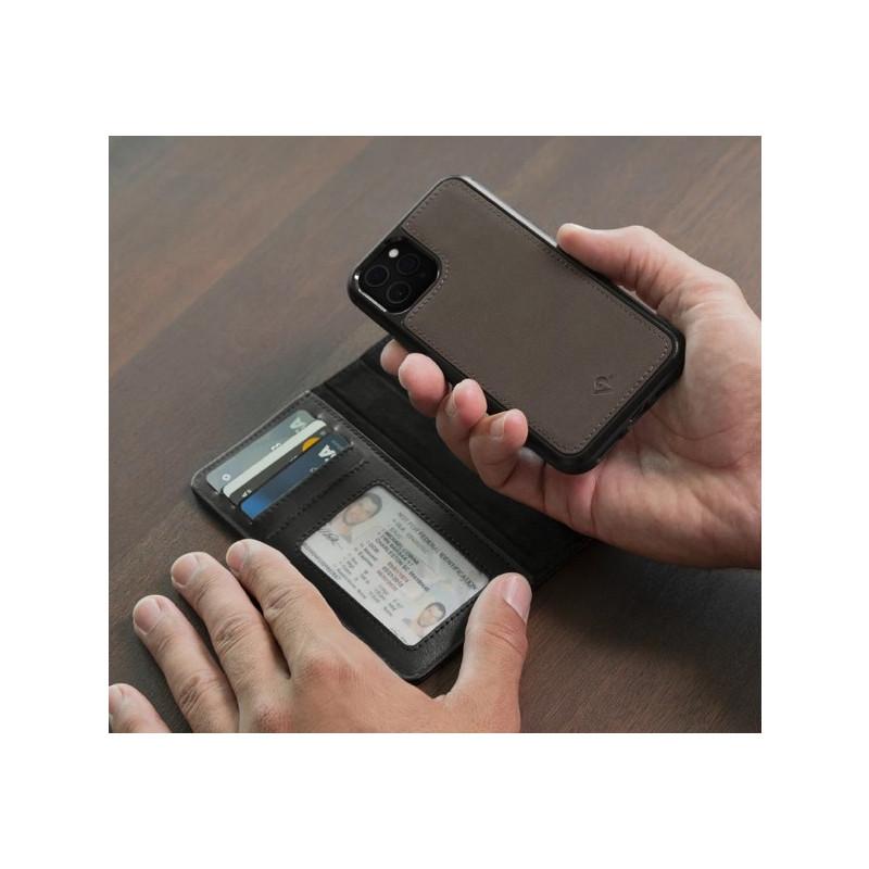 Twelve South Bookbook - iPhone 11 Pro - Coque en cuir Marron
