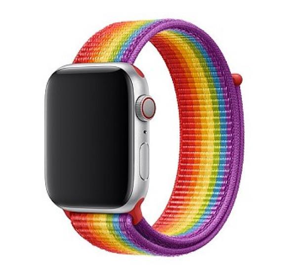 Apple - Bracelet Apple Watch 38mm / 40mm - Boucle sport respirante  - Pride Edition