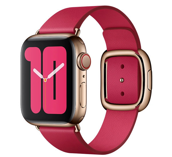 Apple - Bracelet Apple Watch 38mm / 40mm Boucle moderne - Small - Rouge