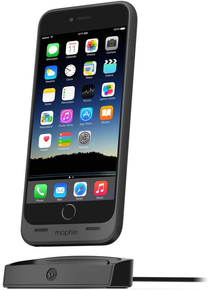 Mophie Support de charge - Juice Pack - iPhone 6(S) - Noir
