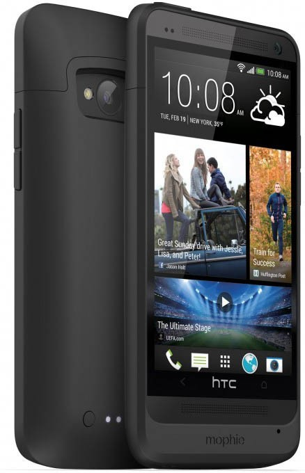 Mophie Coque Batterie - Juice Pack - HTC One M7 - Noire