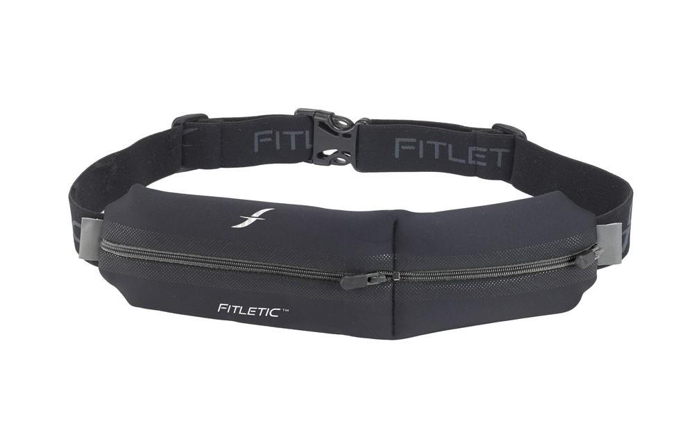 Fitletic Double Pouch Running Belt zwart
