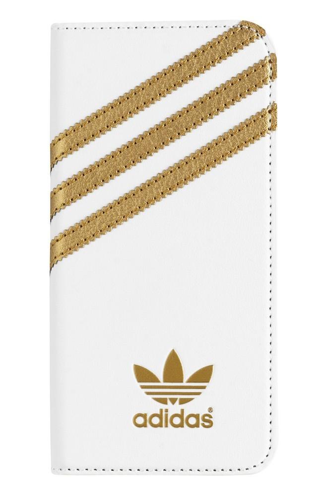 Adidas OR Booklet - Coque Folio BASIC - iPhone 6 / 6S Blanc et or