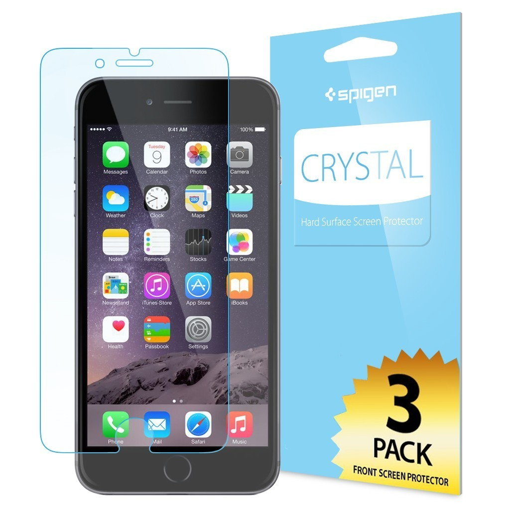 new concept 1efff a614b Spigen Screen Protector Crystal 3-Pack iPhone 6(S) Plus