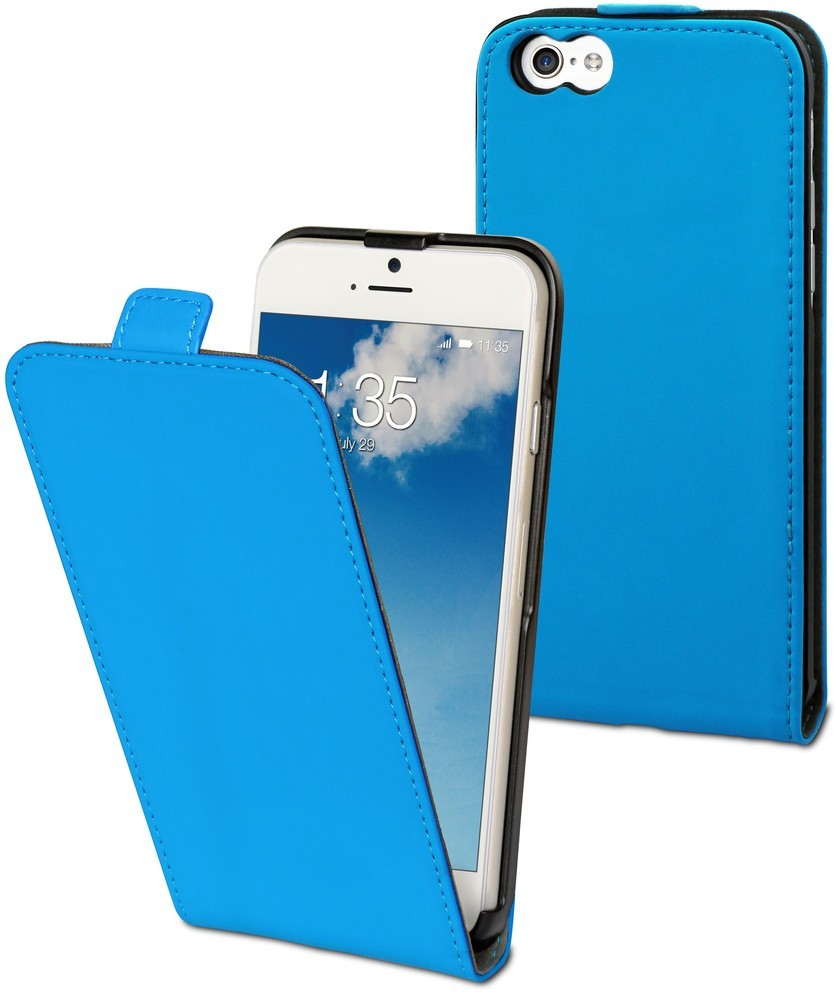 Muvit Slim - Étui iPhone 6 / 6S de protection à rabat - Bleu