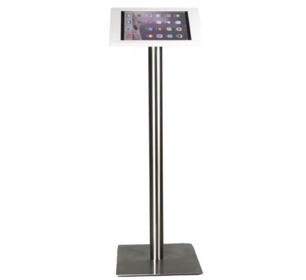 Support pour tablette Fino iPad 12,9 pouces - Acier Inoxydable blanc