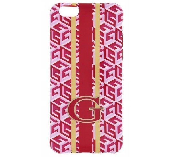 Guess G-Cube TPU - Coque iPhone 6(S) en TPU - En Rouge