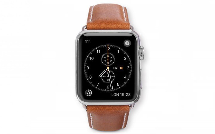 Dbramante1928 Copenhagen Sangle Apple Watch 38mm gris/marron