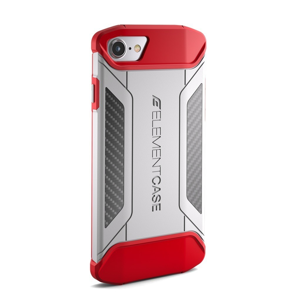 Element Case CFX iPhone 7 / 8 / SE 2020 Blanc/Rouge
