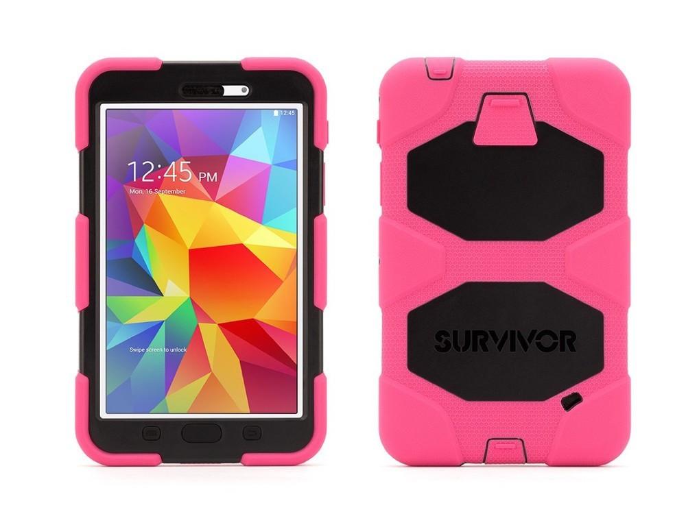 Griffin Survivor All-Terrain Étui Hardcase Galaxy Tab 4 7.0 rosé/noir