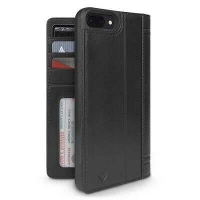 Twelve South Journal Portefeuille iPhone 7 / 8 / SE 2020 Noir