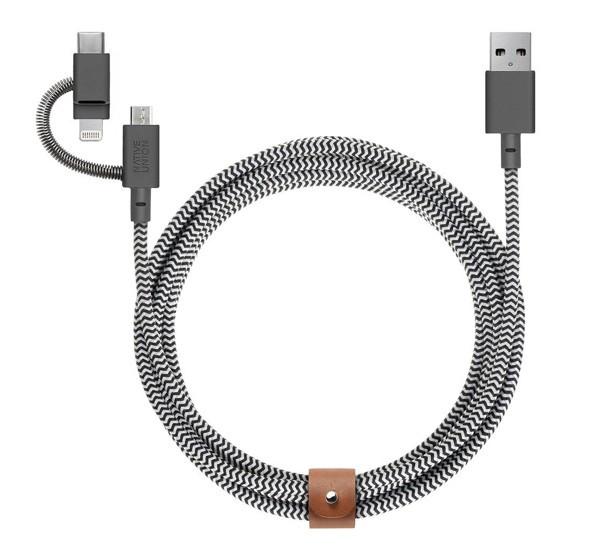 Native Union Kevlar Belt universel - Câble de charge 2m - Zébre