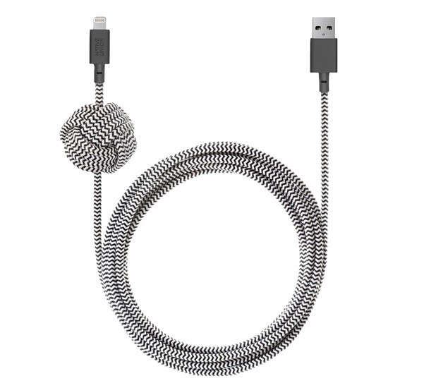 Native Union Kevlar Night Lightning - Câble de charge 3m - Zébre