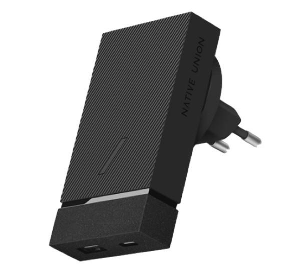 Native Union Smart Chargeur intelligent Multiports 18W Noir