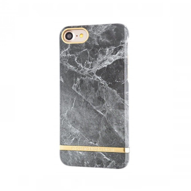 Richmond and Finch Marble Glossy - Coque iPhone 7 / 8 / SE 2020 - Marbre Gris
