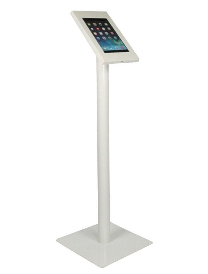 Borne Tablette sur pied Securo- iPad Galaxy Tab - Blanc