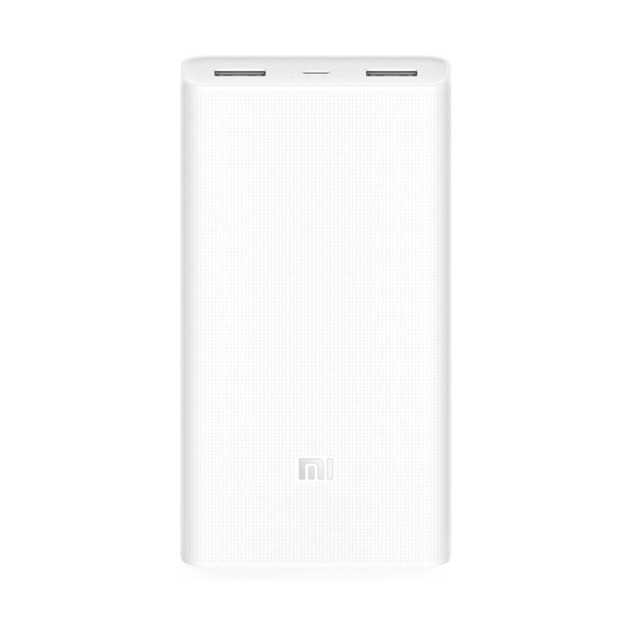 Xiaomi 20000mAh Charge rapide 3.0 Powerbank 2 - Double USB - Blanc