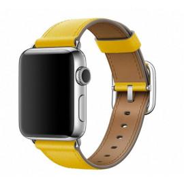 Apple - Bracelet Apple Watch 42mm / 44mm - Boucle Classique - Jaune