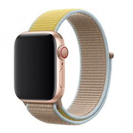 Apple - Bracelet Apple Watch 38mm / 40mm - Boucle Sport respirante - Camel