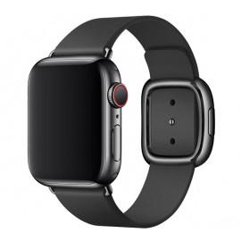 Apple - Bracelet Apple Watch 38mm / 40mm Boucle moderne - En cuir - Large - Noir