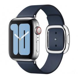 Apple - Bracelet Apple Watch 38mm / 40mm Boucle moderne - Small - Deep Sea Blue