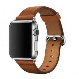 Apple - Bracelet Apple Watch 38mm / 40mm - Boucle Classique - Marron